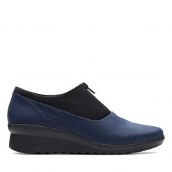 Caddell Peyton - Navy Synthetic Nubuck